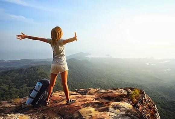 горы, турист